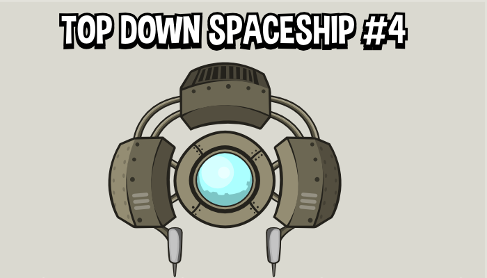 Top down spaceship 4