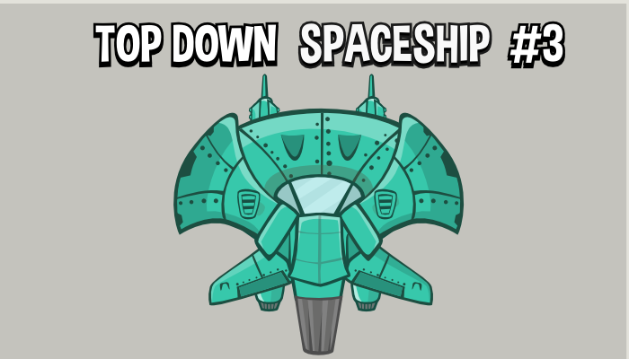 Top down space ship style 3