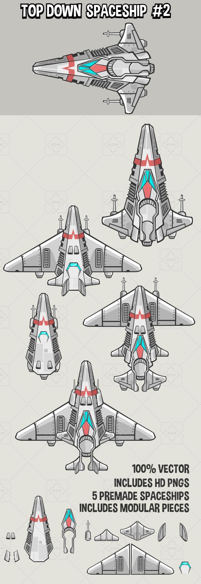 Top down spaceship 2