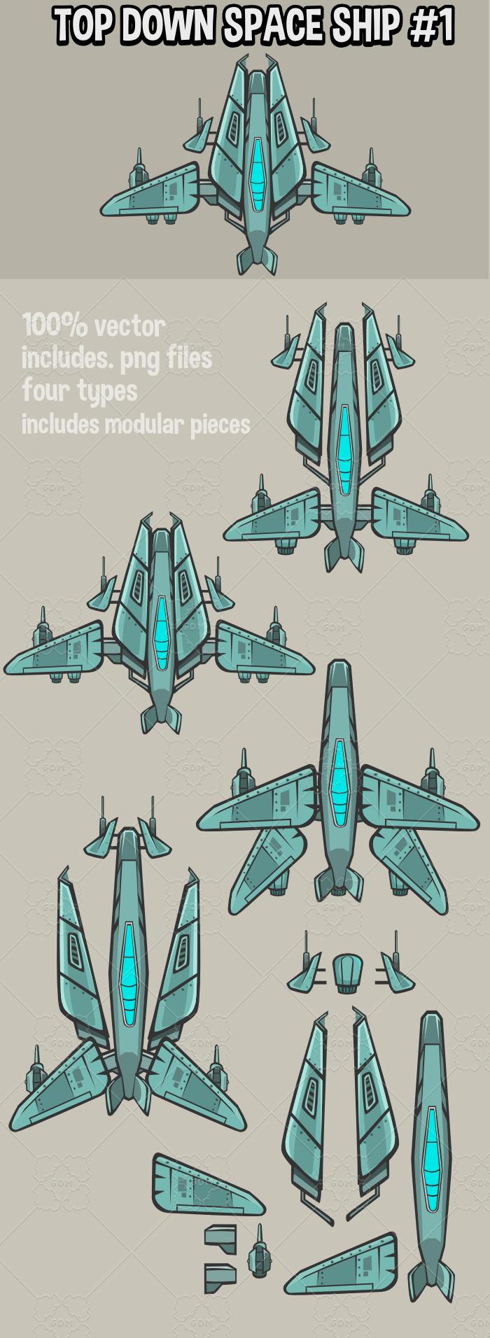 Top down spaceships 1