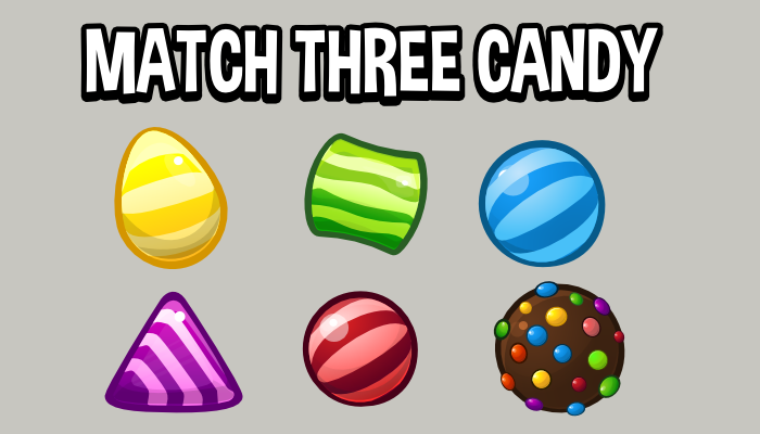 Match three candy icons