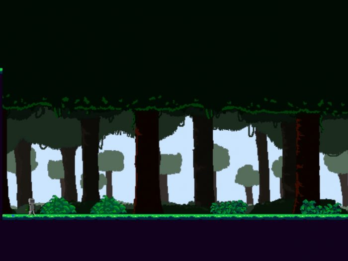 Pixel art Platformer Background and Ground Tileset