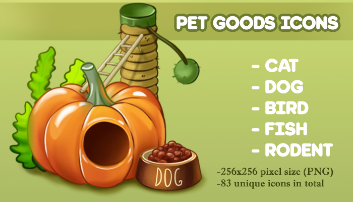 Pet Goods Icons
