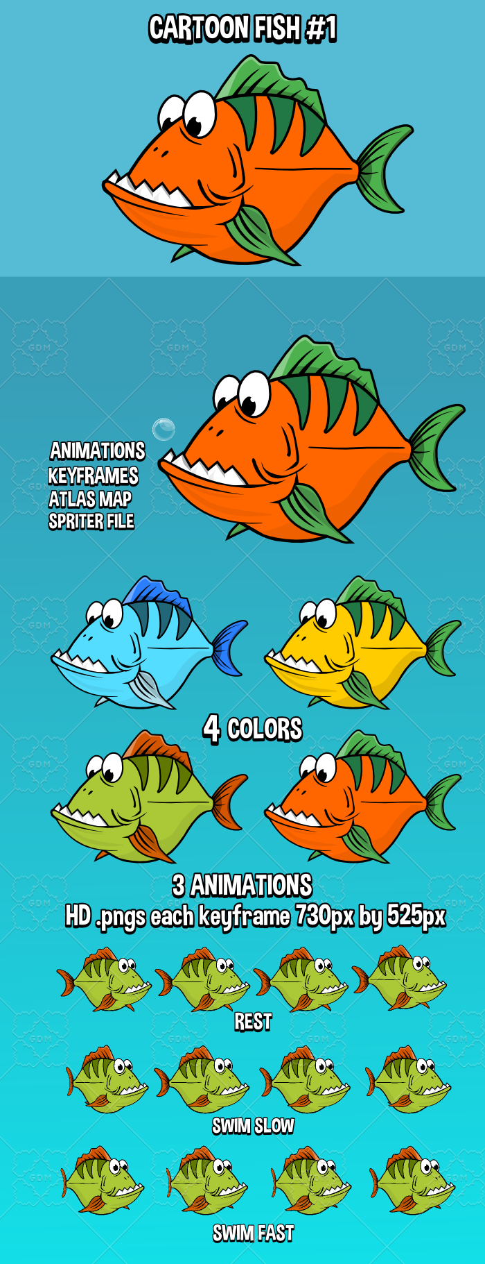 Cartoon fish 1