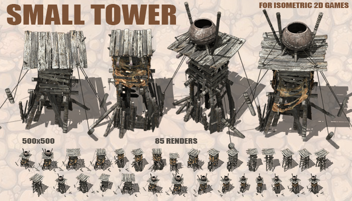 Small Towers for Isometric 2D games