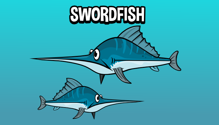 Animated swordfish