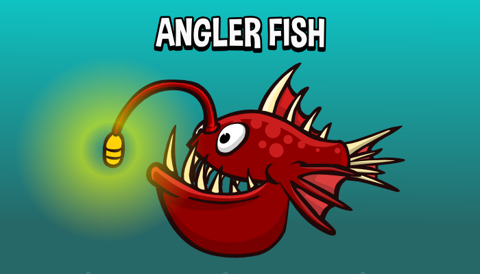Animated angler fish