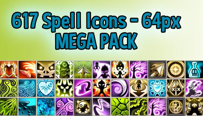 617 Spell Icons 64px MEGA PACK