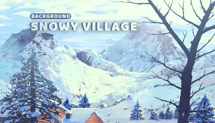 Snowy Village – Game Background