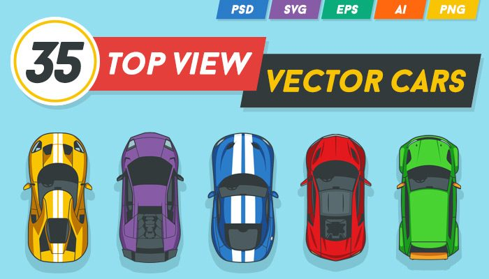 35 Top View Vector Cars