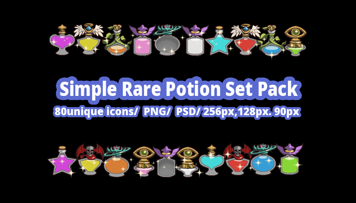 Simple Rare Potion Set Pack