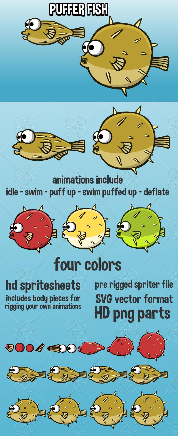 Animated puffer fish