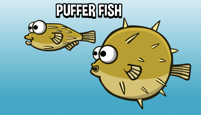 Animated puffer fish