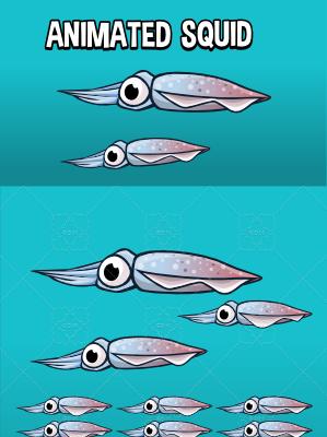 Animated squid