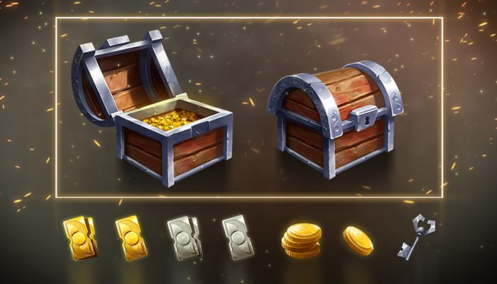 Treasure Chest and game reward icons pack