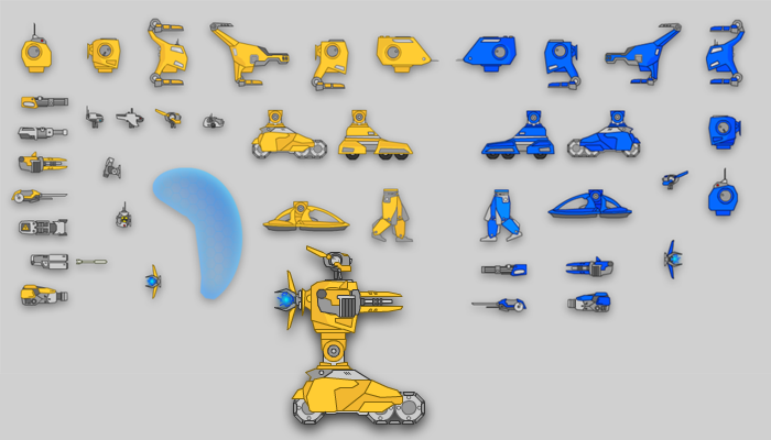 Mech pack 24 unique sprites