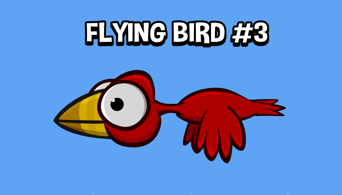Animated flying bird 3