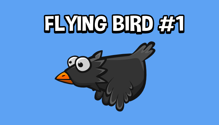 Animated flying bird