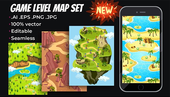Game Level Map Set II