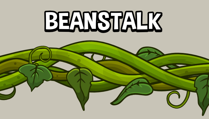 Beanstalk vine 2d game assets