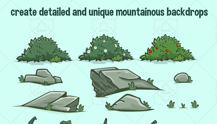 Mountain scene construction kit