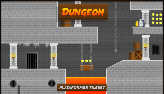 Dungeon Plataform Tileset