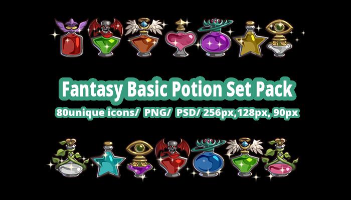 Fantasy Rare Potion Set Pack