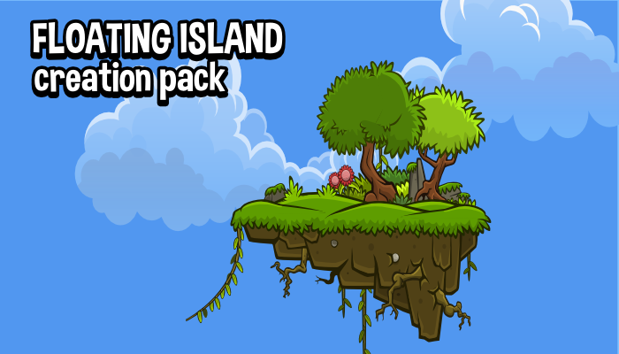 Floating island environment creation pack