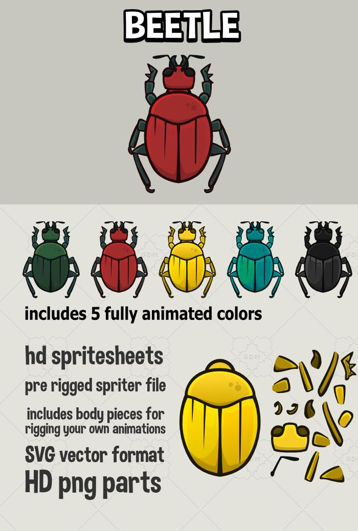 Animated beetle