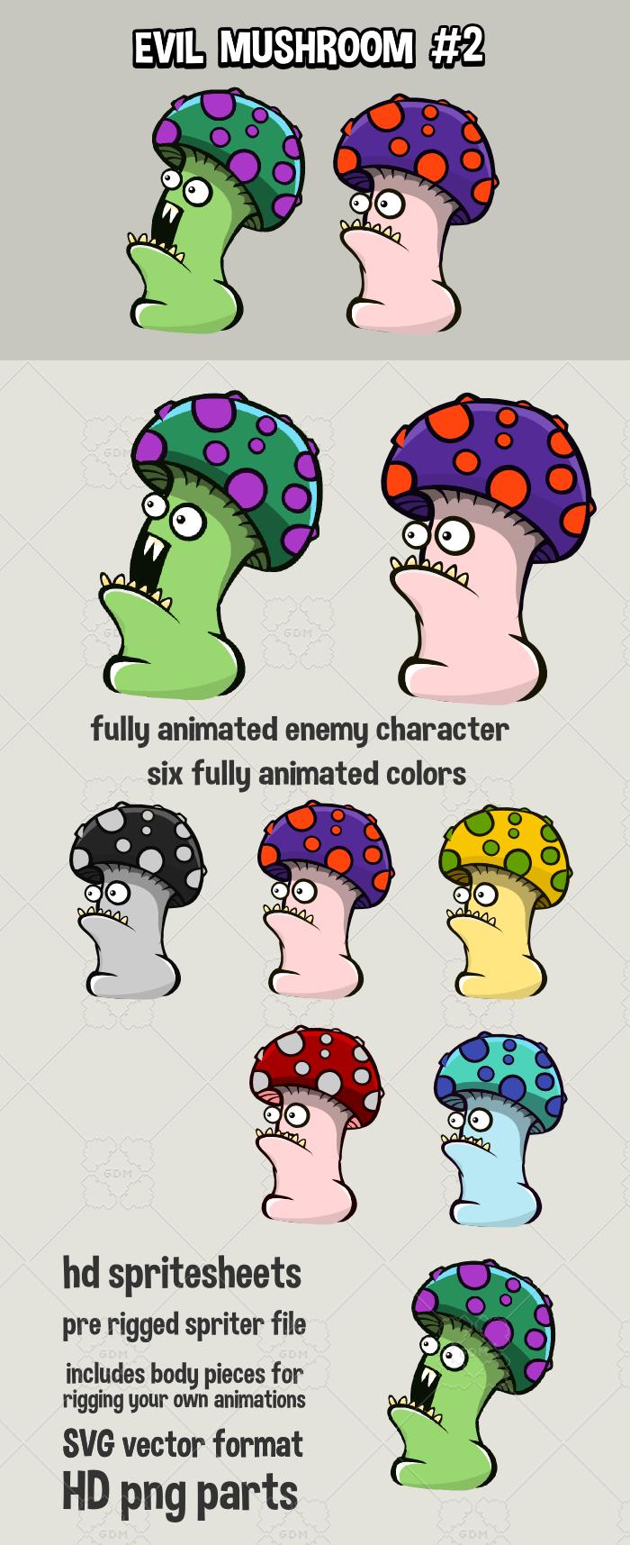 Animated evil mushroom2