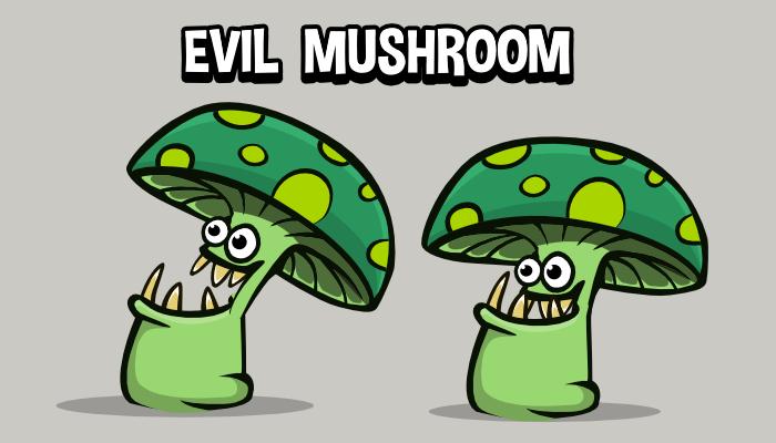 Animated evil mushroom