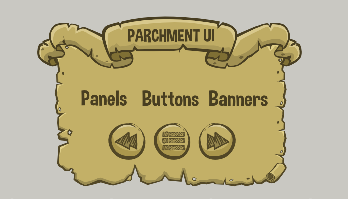 Parchment game user interface