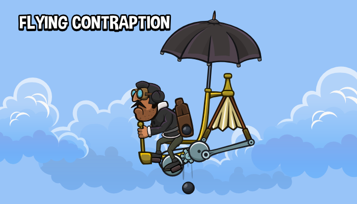Animated flying contraption 3
