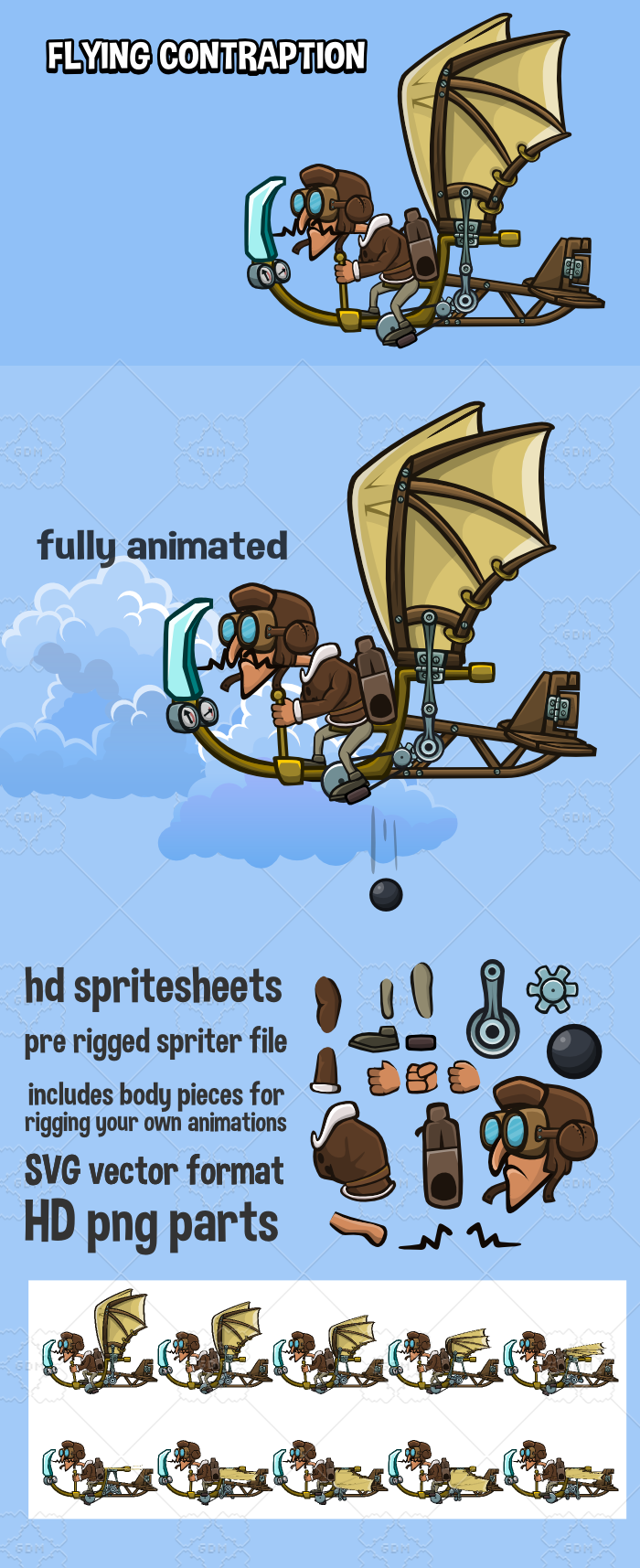 Animated flying contraption 2