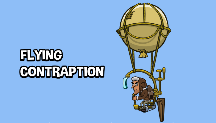 Animated flying contraption