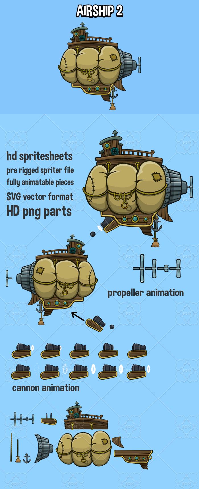 Animated airship 2