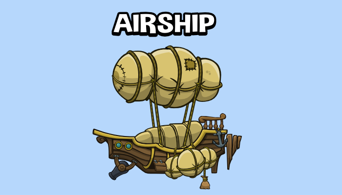 Animated airship 1