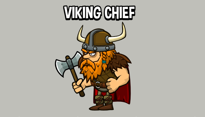 Animated chief viking