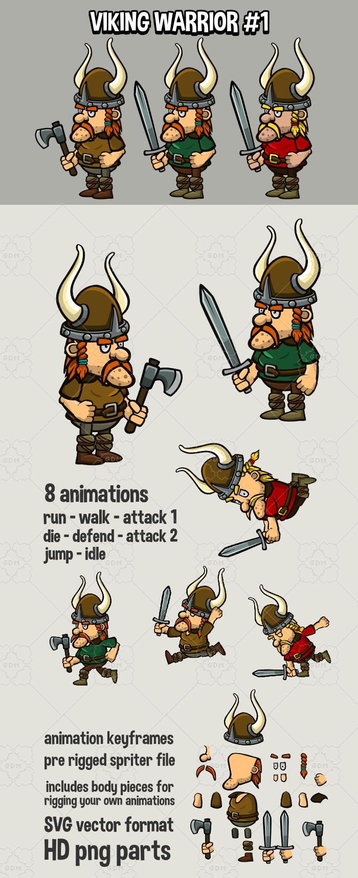 Animated viking warrior 1