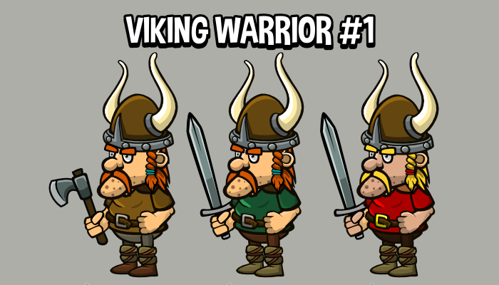 Animated viking warrior 1
