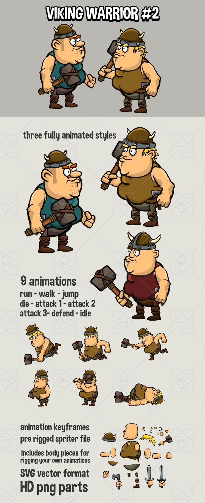 Animated viking warrior 2