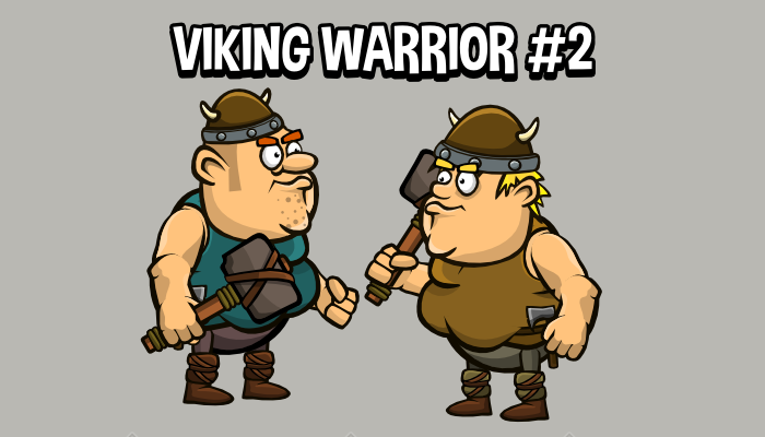 Animated viking warrior 2
