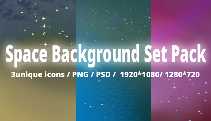 Space Background Set Pack