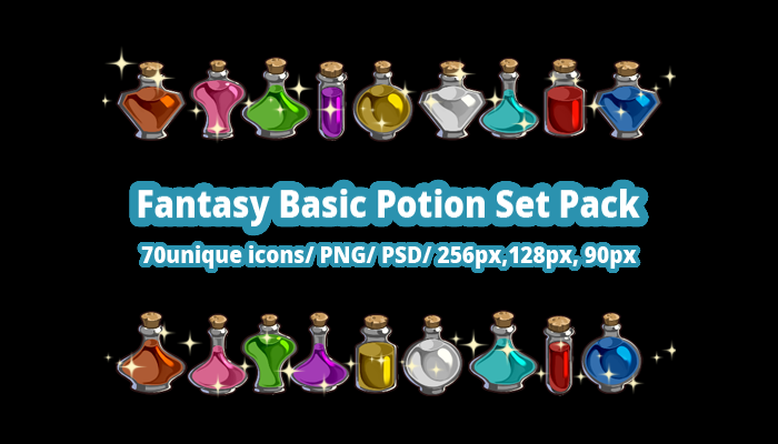 Fantasy Basic Potion Set Pack