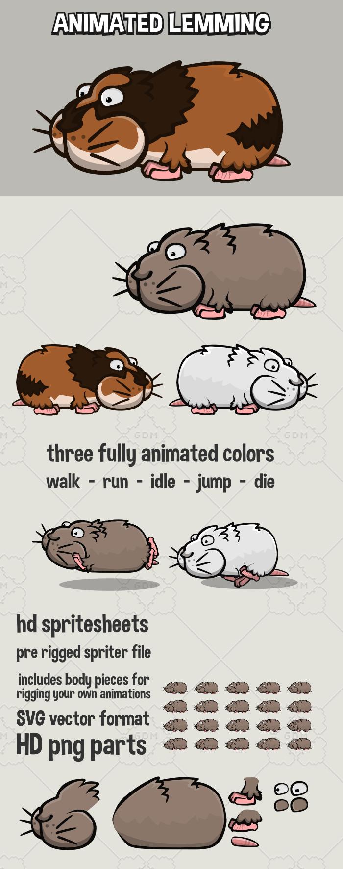Animated lemming