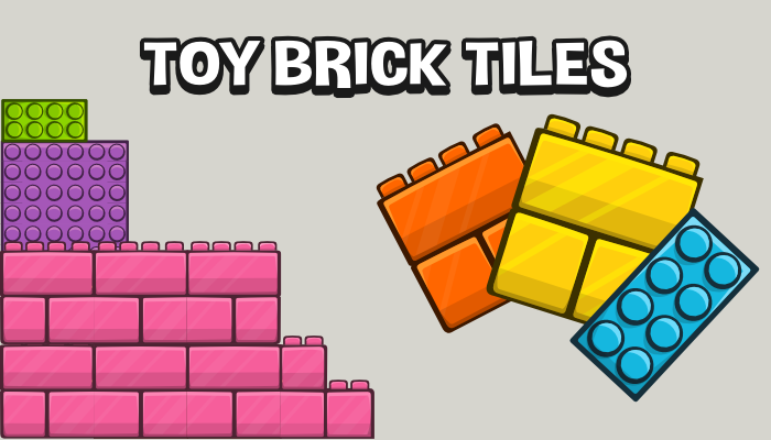 Toy brick level tile set