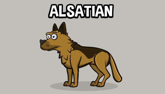 Animated alsatian