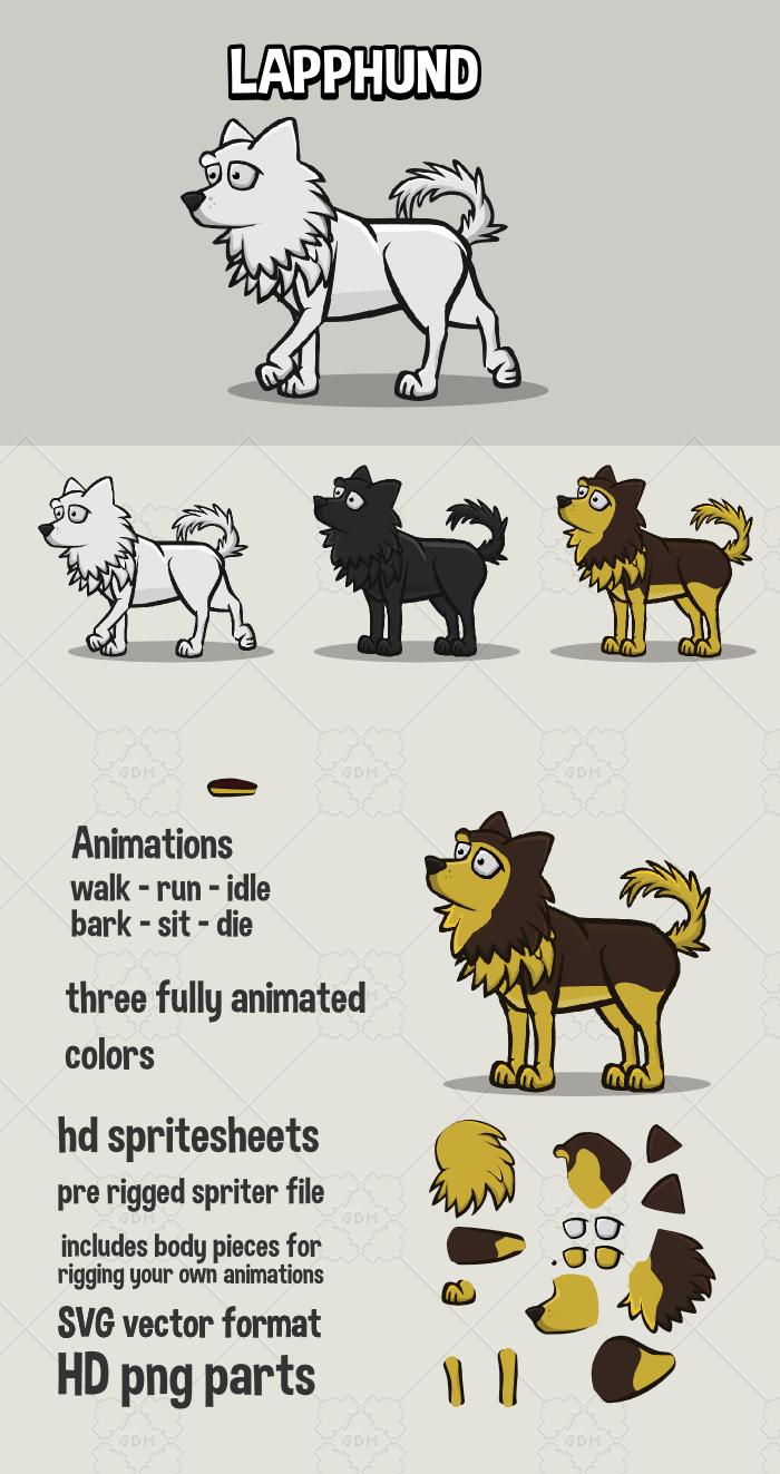 Animated lapphund