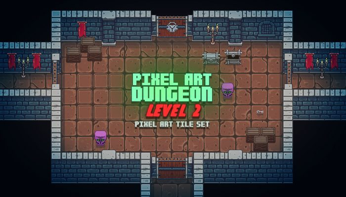 Pixel Art Top Down Dungeon Level 2