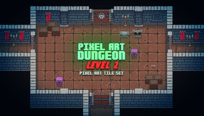 Pixel Art Top Down Dungeon Level 2